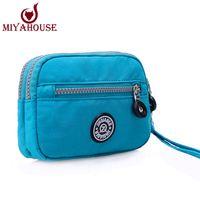 Wholesale Zipper Wallet Shopping Bag - Wholesale-Simple Style Female Daily Shopping Bags Phone and coin Day Clutches Bag Women Bolsa Feminina Wristlets Handbags Women Mini Bags