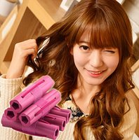 Wholesale China Wholesale Hair Flowers - hair curler Roll roller Soft Sponge Twist Hair Care Styling stick Roller DIY tools harmless health safe flower for women lady girls