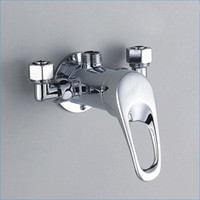 Wholesale Copper Shower Faucets Controls - brass Solar mixing valve,All copper shower faucet,Wall Mount Hot and cold mixer tap,Free Shipping J15629