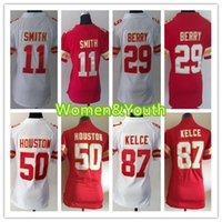 Wholesale Kansas Rugby - Womens Kansas City Jersey Chiefs 87 Travis Kelce #29 Eric Berry #11 Alex Smith #50 Justin Houston Youth Stitched Jerseys Top Quality