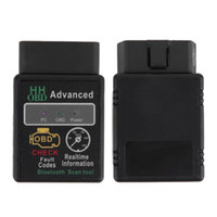 Wholesale Mini ELM327 V2 Bluetooth HH OBD Advanced OBDII OBD2 ELM Auto Car Diagnostic Scanner code reader scan tool hot selling