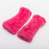 Wholesale Pink Fur Gloves - Ms.Leefur Winter Mink Gloves Women Mittens Fingerless Gloves Genuine Fur Thick wrist-cuff Brand new Fashione Mittens