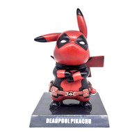 juguetes genuinos al por mayor-Funko Pop Figura de acción genuina de Deadpool Pikachu Cosplay Deadpool modelo de juguete de colección 15 cm Pikachu juguetes de superhéroes