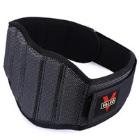 Wholesale Belt Lift - Wholesale-VALEO Hi-density Sponge Nylon Weight Lifting Squat Waist Belt Man Breathable Lumbar Gym Fitness Strap Padding Guard Back Protect
