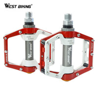 Wholesale Mtb Bicycle Pedals - 2015 New Arrival High Quality Bicycle Pedals Mountain Bike Bearing Pedal Bicicleta Ciclismo MTB Parts Black Red Cycling Pedals