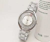 Wholesale Hand Strap Bracelet - luxury mini silver watch women top brand ladies watches cute hand strap diamond bracelet gifts fashion Stainless steel thin clock