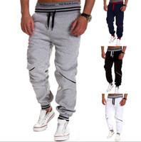 Wholesale harem dancing pants for men - New 2016 Mens Joggers Fashion Harem Pants Trousers Hip Hop Slim Fit Sweatpants Men for Jogging Dance 8 Colors sport pants M~XXL