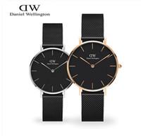 Wholesale Tungsten Watch Steel Black - 2017 New Daniel Fashion Brand DW Watch For Women Dress Watches Lady Casual Quartz Watch Women's Luxury Wrist Watch Tungsten steel Wellington