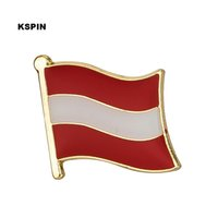 Wholesale Austria Pin - Free shipping Austria Metal Flag Badge Flag Pin 0001