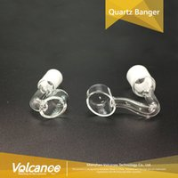 Venda Por Atacado Quartz Nails + Bangers Quartz + Club Banger Nail Domeless Masculino Feminino Nails De Vidro Domeless Quartz Nail 10mm 14mm 18mm Smoking pipe