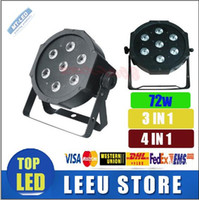 Wholesale led color wash - 2016 newest 7x12W 72w led stage light voice-control AC110-240V LED Flat SlimPar Quad Light 4in1 LED DJ Wash PAR LightS Uplighting No Noise