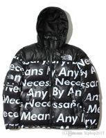Wholesale Longest Woman Down Jacket - Winter Jackets Men Face Hooded Down Coats Mens Hip Hop Kanye Brand Thick Jacket Men Designer Outwear Men clothes