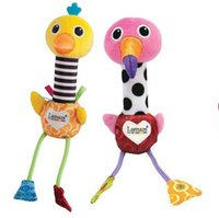 Wholesale Baby Toys Educational Lamaze - 8.8 Inch Baby Flamingos Lamaze Stuffed Plush Doll Toys 22cm EMS children cartoon 2 style Educational kid Toy Flamingos and ostrich B