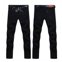 Wholesale 28 size jeans male - Wholesale-Free shipping 2016 new fashion designer brand straight jeans male fashion brand of high quality denim trousers Size:28-38