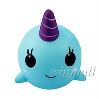 Wholesale children toy whale for sale - Group buy 10cm Soft Whale Narwhal Cartoon Squishy Slow Rising Squeeze Toy Phone Straps Ballchains squishies Jumbo Kawaii Children Gift