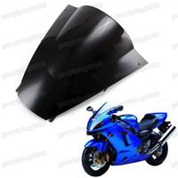 Wholesale Zx12r Windscreen - New Motorcycle ABS Windscreen Windshield for Kawasaki Ninja ZX12R 2002 2003 2004 2005 2002-2005