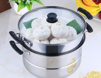 Wholesale Double Layer Pot - Stainless steel steamer double layer two layer two layer stainless steel multi-purpose pot steamed soup pot Hot pot
