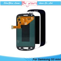 Wholesale S3 Display Screens - For Samsung Galaxy S3 Mini i8190 LCD Display with Touch Screen Digitizer Assembly Parts AAA Grade Black White DHL Free Shipping