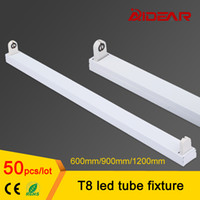 Wholesale T8 Brackets - t8 led tube fixture 1200mm 900mm 600mm, T8 led flourescent lamp tube fixture support bracket base, free shipping