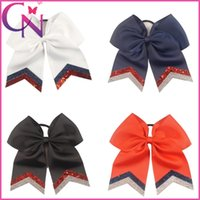 Hair Bows black ponytails - Hot Sale quot Large Girls Cheer Bow Glitter Cheer Bows with Ponytail Holder