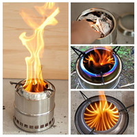 Wholesale Outdoor Cooking Picnic BBQ Wood Stove Backpacking Burning Camping Burner Tool T20