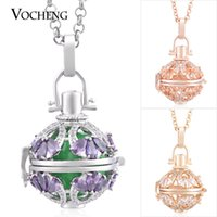 Wholesale harmony ball locket for sale - Group buy Ball Harmony Water Drop CZ Stone Stainless Steel Chain Maternity Necklace Colors Plating Angel Lockets Jewelry VOCHENG VA