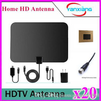 Wholesale 20pcsHigh Performance Digital HDTV Antenna with Detachable Amplifier Power Supply YX TX