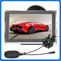 lkw-kamerasysteme großhandel-7 zoll Auto Truck GPS Navigation Hohe Empfindlichkeit Kapazitiver Bildschirm Bluetooth Drahtlose IR Rückfahrkamera System Vorgeladene POI 8 GB IGO Karten