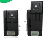 SS-8 Universal LCD Battery Wall Charger Docking Adapter USB Para Samsung Galaxy Note 2 3 4 iphone 4 5 6 plus pw93