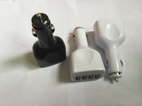 carregadores de carro multi porto venda por atacado-2.1A Multi-fonction 4 Portas USB Car Charger Para ipad Tablet celular PRETO Branco SEM PACOTE DE VAREJO 50 PÇS / LOTE