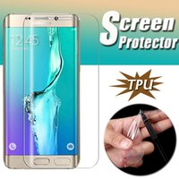 Wholesale anti shock screen protector - Full Coverage Soft TPU Clear Anti-Shock Full cover Screen Protector Film Cover 3D Curved For Samsung Galaxy S9 Plus S8 S7 S6 edge Note 8 5