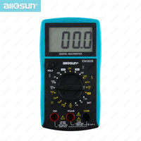 Wholesale Lcd Screen Digital Multimeter - all-sun Handheld Digital Multimeter AC DC Voltage Tester Current Resistance Meter Large LCD Screen EM382B $