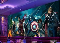 Wholesale pictures for nursery resale online - 3d wallpaper custom photo non woven mural wall sticker d avengers alliance KTV bar painting picture d wall room murals wallpaper