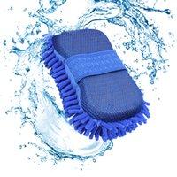 ingrosso guanti di pulizia auto-Guanti per spugne per lavaggio spugne per auto Detergente per ciniglia in microfibra Panno per pulizia camion Accessori puliti