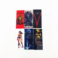 Wholesale women game thrones for sale - Game of Thrones Wonder Woman Spartacus Lich King Orcish Battery PVC Skin Sticker Vaper Wrapper Cover Sleeve Wrap Heat Shrink Vape DHL