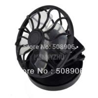 Wholesale Energy Caps - 10pcs lot Mini Portable Solar Energy Power Fan Clip-on Hat Fan Cap Cooling Fan Car Clip Fan