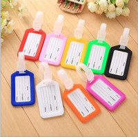 Wholesale Luggage Name Tags - Auxiliary Materials Tag Hard Plastic Label Luggage Suitcase Name Address Label for Travel Suitcase
