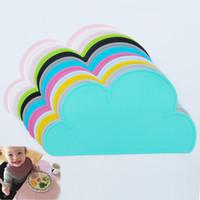 stabpolstermatte großhandel-Wolke geformte Platte Mat Ins wasserdicht Silikon Tischset Bar Mat Baby Kids Tischset Set Home Küche Pads