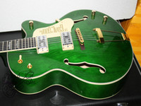 Wholesale Green Electric Jazz Guitar - Custom Shop Green Jazz Electric Guitar High Quality Free Shipping New Arrival