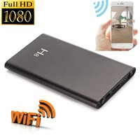 Wholesale Wireless External Hd - Spy camera H8 p2p HD 1080P WIFI mobile Power Bank External Battery wireless IP Spy Hidden Cameras DVR Video recorder Motion detect