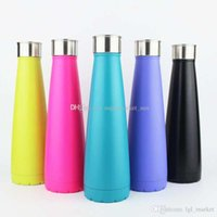 Wholesale Adults Steels - 2017 The second generation Water Bottle Stainless Steel 500ml Cola Bottle Solid Color Tumbler Portable Summer Cups for Adults