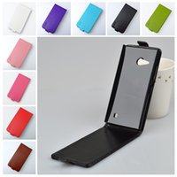 футляры для люмисии оптовых-Wholesale-For  Lumia 730 735 Case  High Quality PU Leather Cover For  730 Case Protect Skin Flip Vertical Phone Cases
