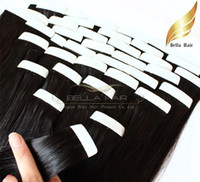 Wholesale skin weft hair extensions - 18 inch natura pu Skin Weft Hair Extensions Brazilian Human Hair Straight g piece g set