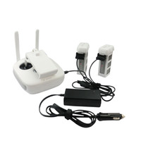 Wholesale Drone Battery Charger - Wholesale- Car Charger 2-Channel Battery Charger and One Remote Control Charger for DJI Phantom 3 Quadcopter Drone