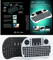 Wholesale Bluetooth Htpc Keyboard - Mini i8 Air Mouse Game Keyboard Mini Wireless QWERTY 92 Keys Keyboard English Keyboard Mouse Touchpad for PC Notebook Android TV Box HTPC