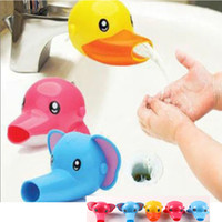 Wholesale baby extender for sale - Group buy Cartoon Animal Baby Kids Elephoant Dolphin Duck Water Tap Faucet Extender Washing Hands Accessories Styles HH T54