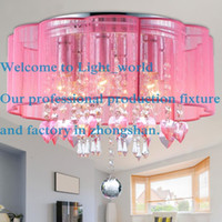 Wholesale Crystal Chandeliers Lamp Shade - New Drum Shade Crystal Ceiling Chandelier Pendant Light Fixture Lighting Lamp 1310