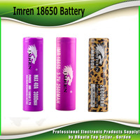 Wholesale Leopard Printed - Hight Quality IMR 18650 Battery 2500mah 3000mah 40A leopard print MAX50A 50A 2600mAh battery Rechargeable Battery VS HG2 HE4 HE2 INR 25R