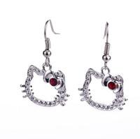 Wholesale New Cartoon Earrings - popular jewelry alloy new Women kitten Korean 2016 jewelry earrings hypoallergenic earrings upscale jewelry cartoon characters