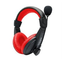 Wholesale Definition Noise Cancelling - F11139 Suoyana S-750 PC Headset With Microphone Earphones Fashion Laptop Gaming Belt Game Headphones High-Definition Microphones